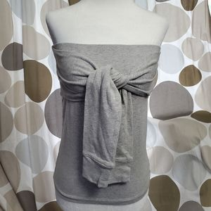 Forever 21 Gray Knotted Sleeveless Top